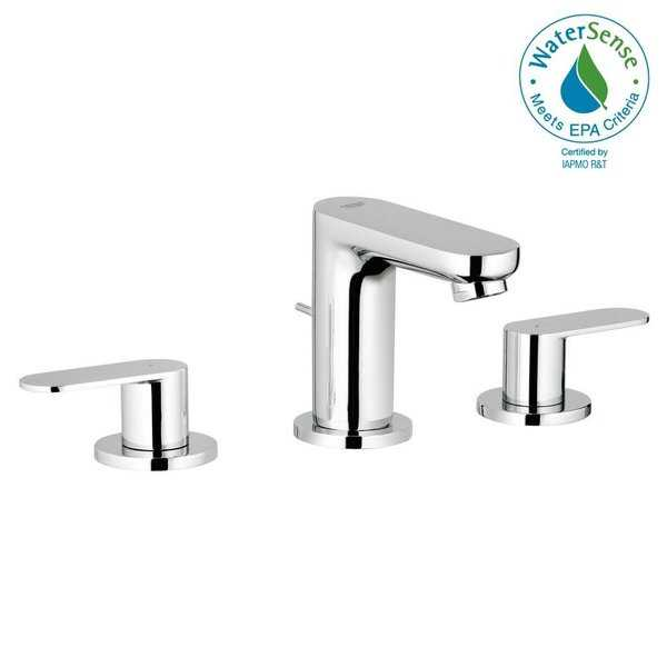 Grohe Eurosmart Cosmopolitan 8' Widespread Two-Handle Bathroom Faucet S-Size 2019900A StarLight Chrome