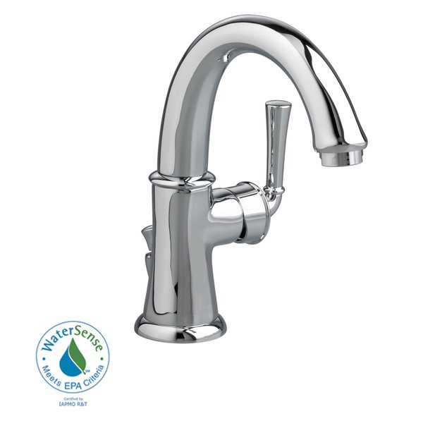 Amercian Standard Portsmouth Single Control Swivel Monoblock Faucet with Brass Crescent Spout