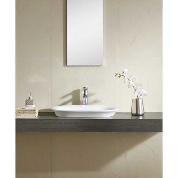 Fine Fixtures White 22-inch Thin Edge Vessel Sink