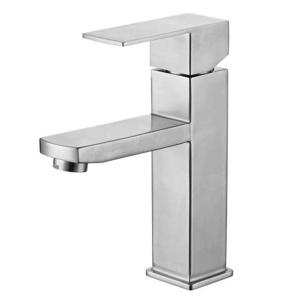 Luxurious Single Handle Lavatory Faucet in Satin Finish