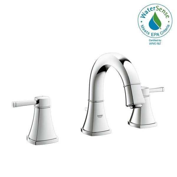 Grohe Grandera 8' Widespread Two-Handle Bathroom Faucet S-Size 2041800A StarLight Chrome