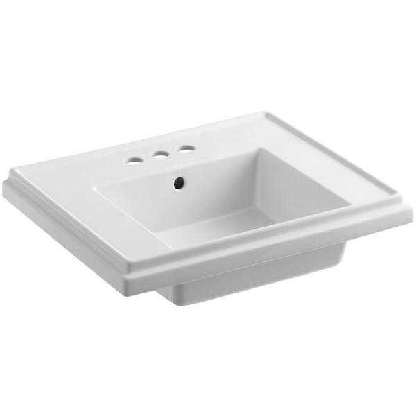 Kohler Tresham 24 in. Pedestal Sink Basin in White