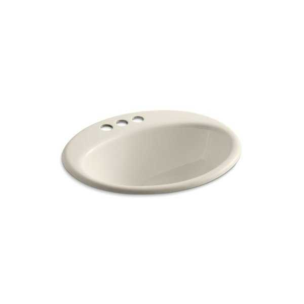 KOHLER Farmington Self-Rimming Bathroom Sink in Almond