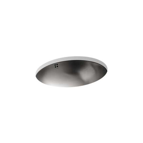 Bachata Luster Overflow Oval Bathroom Sink
