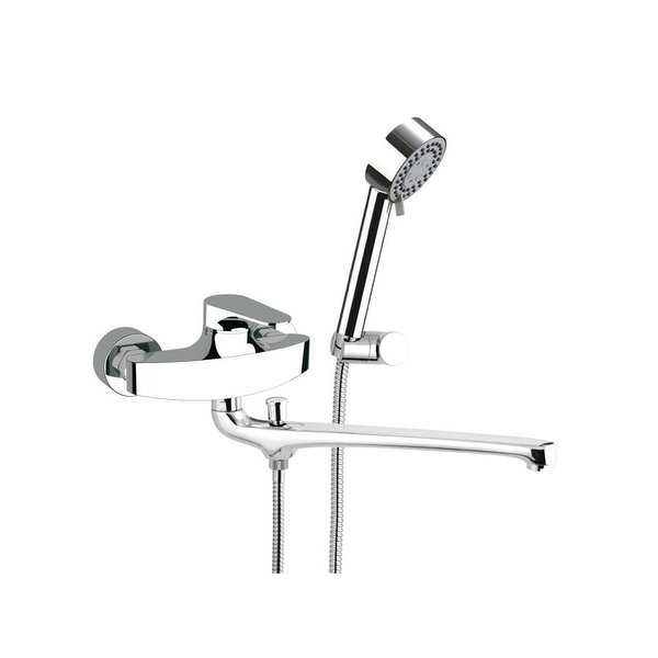 Nameeks L49US Remer Wall Mounted Tub Filler with Hand Shower and Wall Bracket - Chrome - N/A