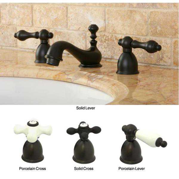 Mini-Widespread Double-Handle Oil-Rubbed-Bronze Bathroom Faucet