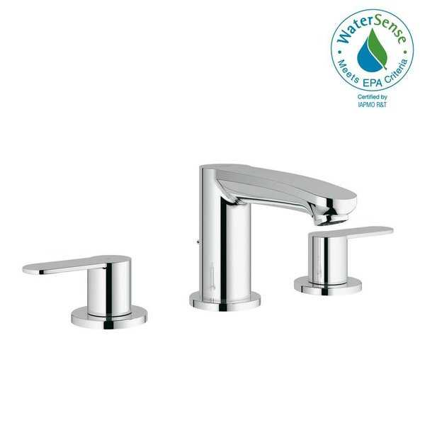 Grohe Eurostyle Cosmopolitan 8' Widespread Two-Handle Bathroom Faucet S-Size 2020900A StarLight Chrome