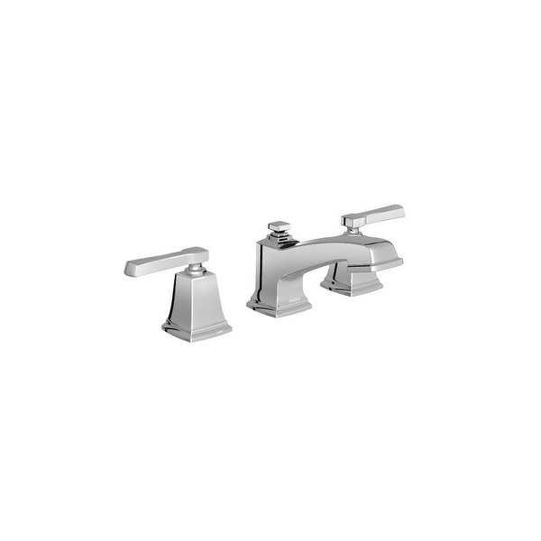 Moen T6220 Boardwalk Widespread Bathroom Faucet with Metal Pop-Up Drain Assembly - N/A