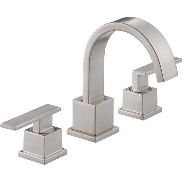 Delta 3553LF Vero Widespread Bathroom Faucet with Pop-Up Drain Assembly - Includes Lifetime Warranty - N/A