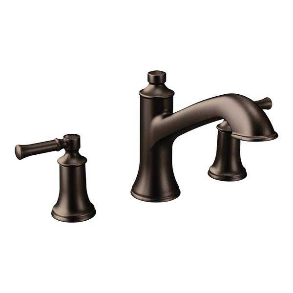 Moen Dartmoor Two-Handle High Arc Roman Tub Faucet T683ORB Oil Rubbed Bronze