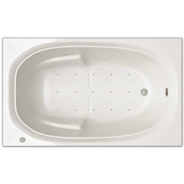 Signature Bath 60-inches Long x 36-inches Wide x 19-inches Deep Drop-in Air Tub