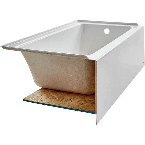 American Standard 2973.102 Studio 60' Soaking Bathtub for Drop In Installations with Right Drain - Arctic
